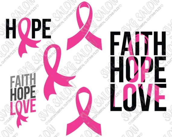 Download SVG Faith Hope Love Breast Cancer Awareness Ribbon by SVGSalon