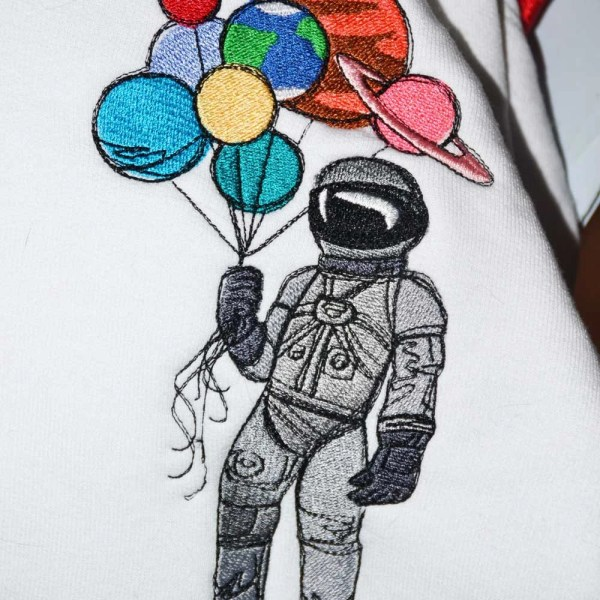 Items similar to Astronaut with Planet Balloons Youth