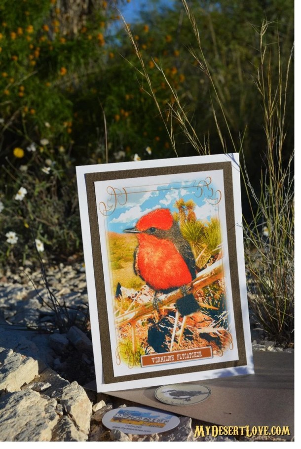 Red Bird Greeting Card, D...