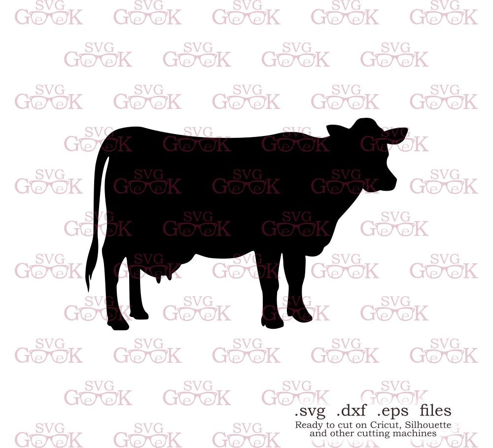 Download Cow SVG cut file for use with Silhouette Cricut and other