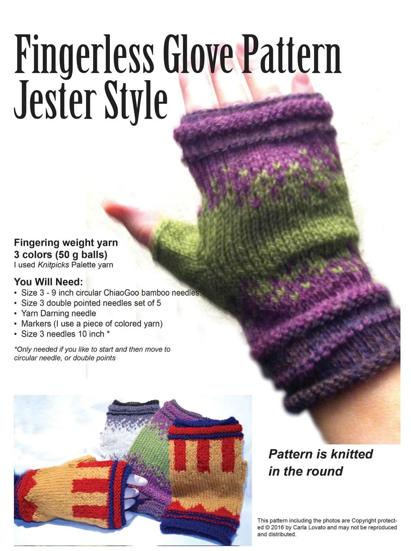 Fingerless Glove Pattern Simplicity