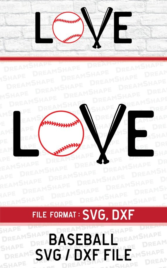 Download Love Baseball SVG Files For Die Cut Cricut Machine Screen