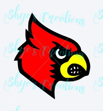 UofL Cardinal Svg Cutting File Louisville Cards From