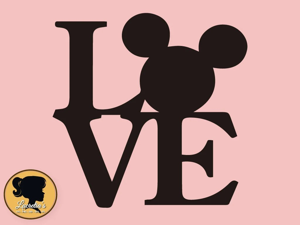 Download Mickey Love SVG, Peace Love Silhouette, Mickey love Mouse ...