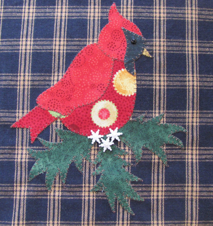 Winter Tree Applique Reindeer