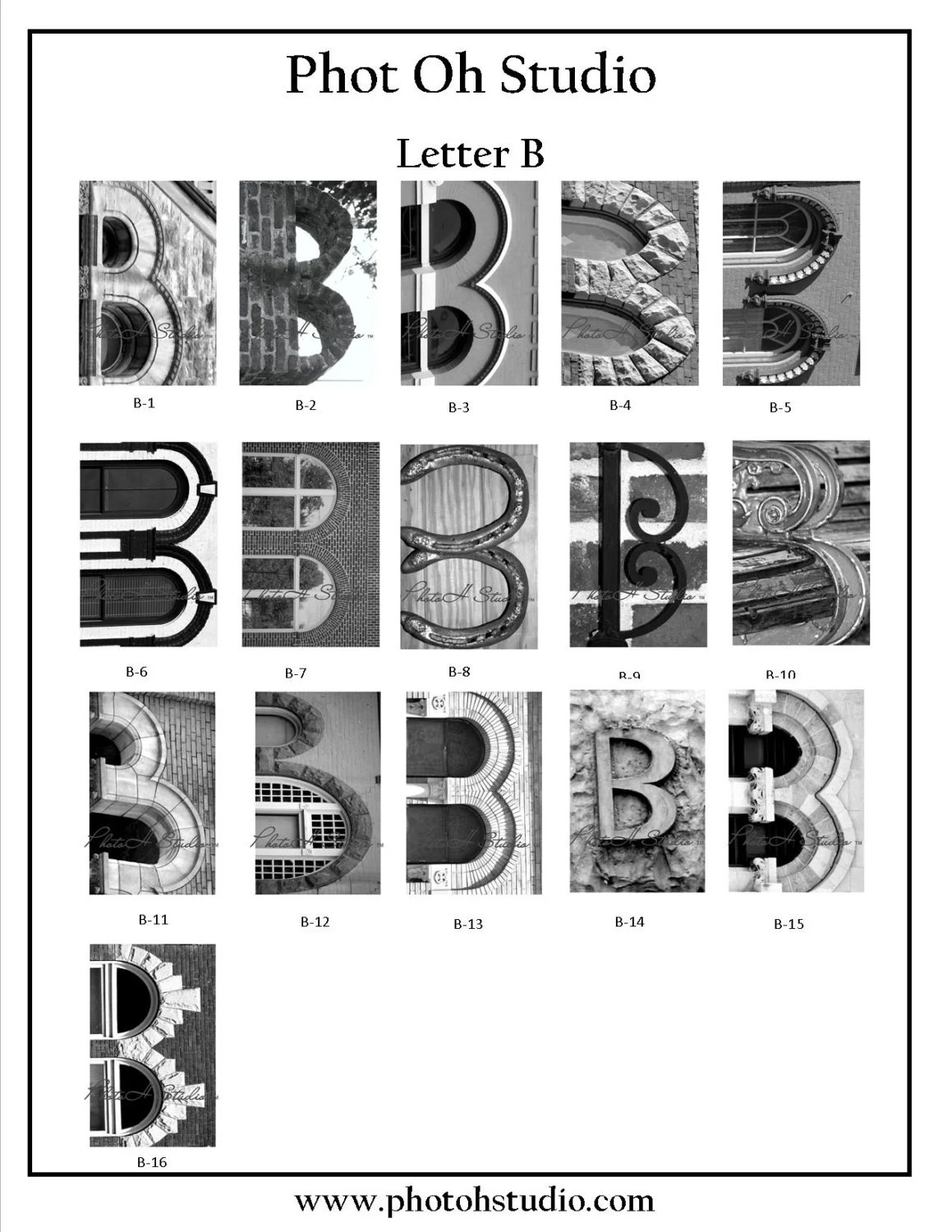 Letter A B C D Architectural Alphabet 4 X 6 Black And By