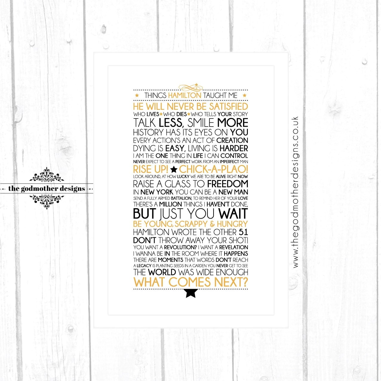 The Best Hamilton Lyrics Printable