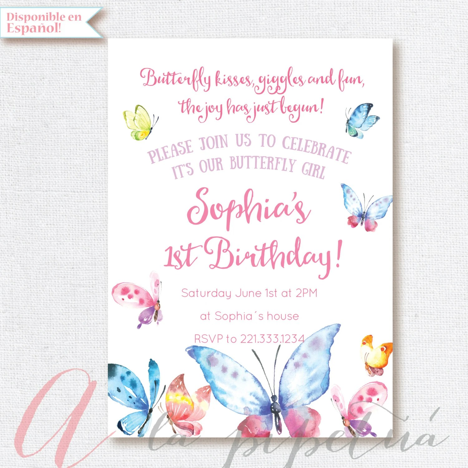 Butterfly Baby Shower Invitation Wording
