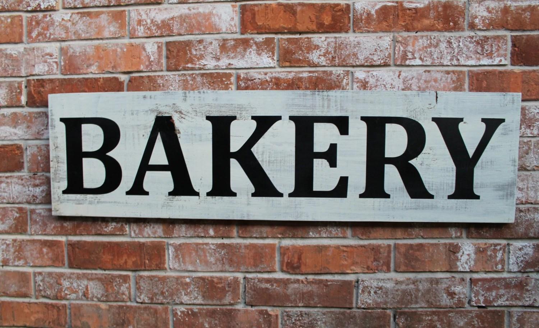 Bakery Sign Bakery Handmade Wooden Sign Fixer Upper Bakery