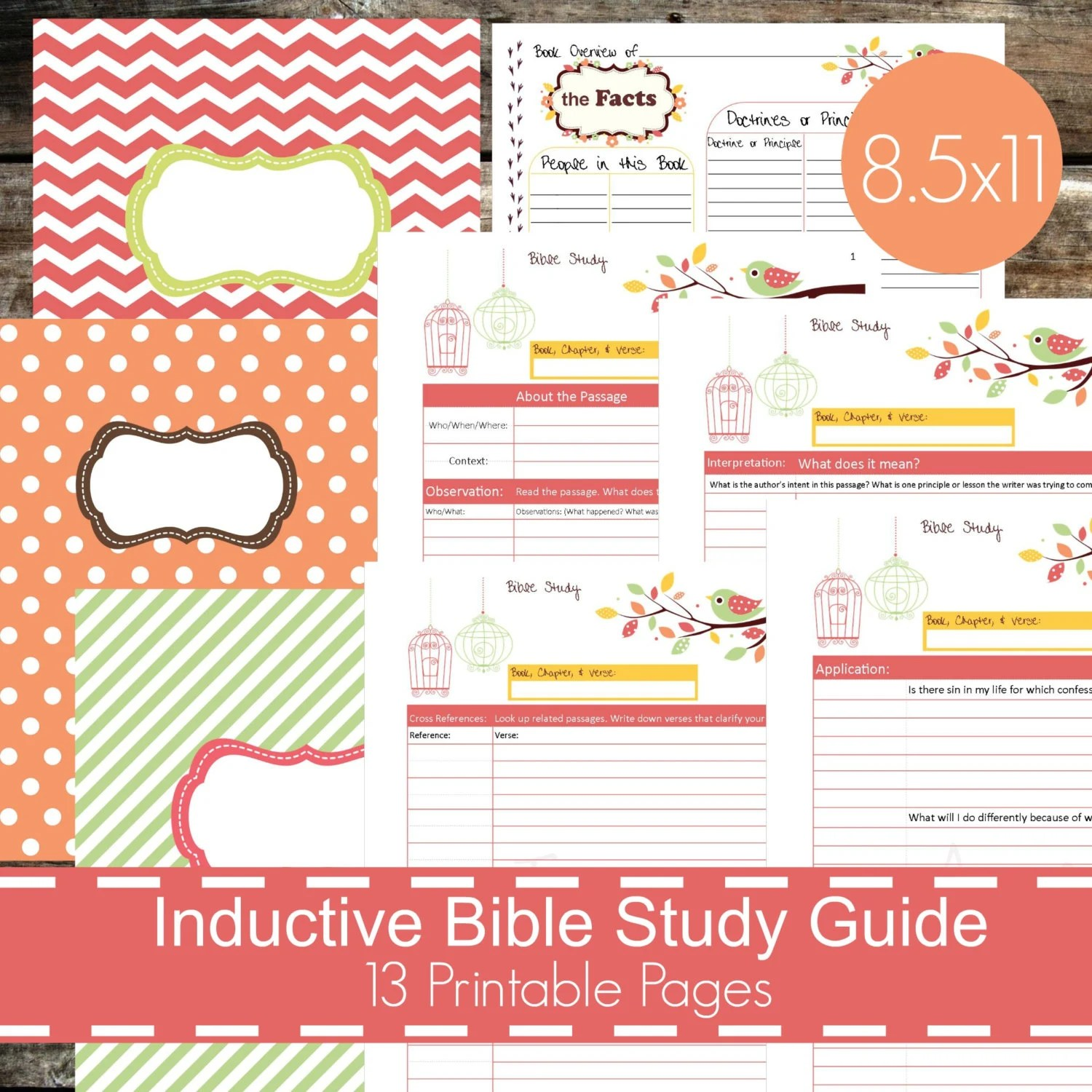 Inductive Bible Study Guide Printables Christian Bible