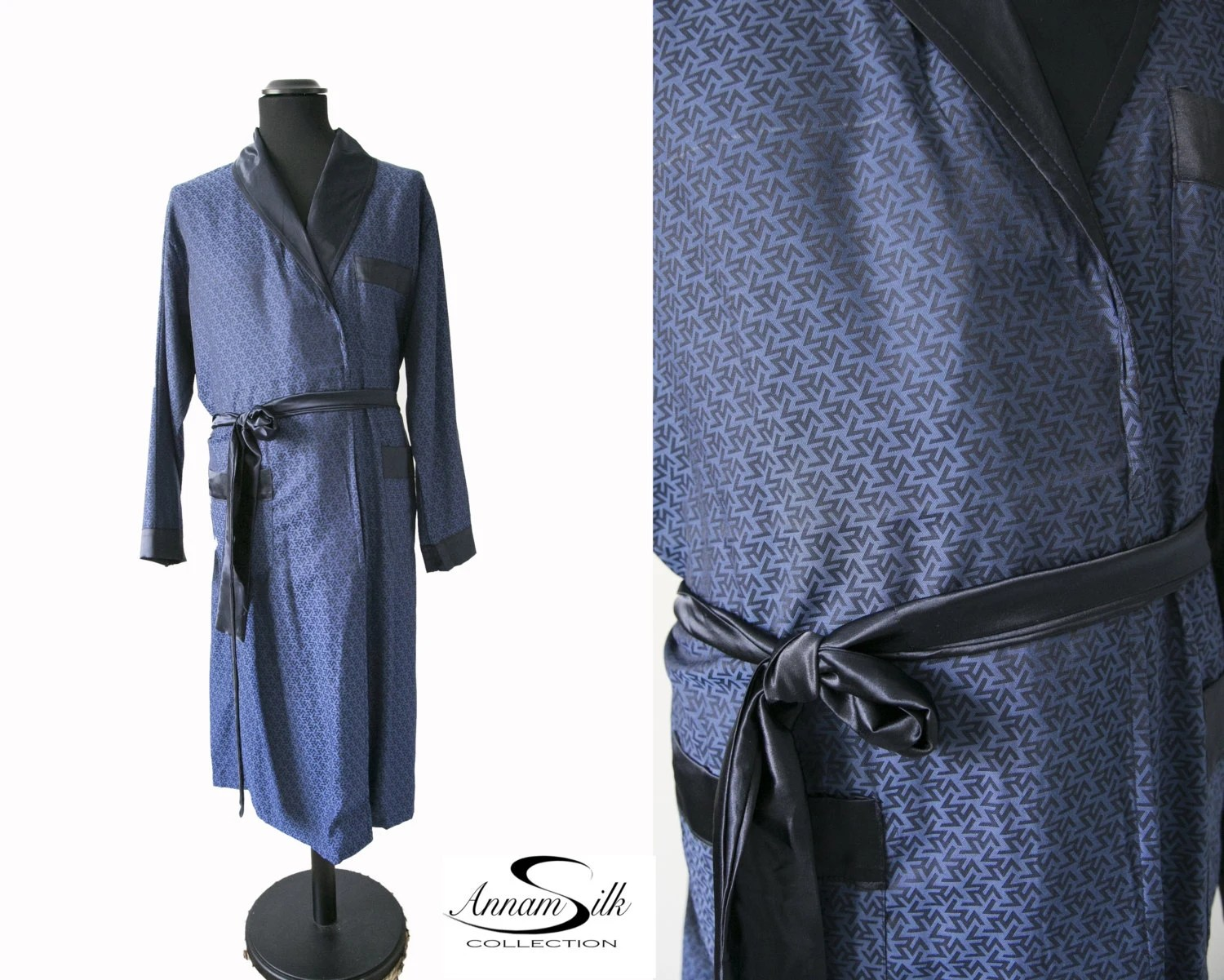 SILK NATURAL Men Houscoat Sleeping Gown NightGown Hospital