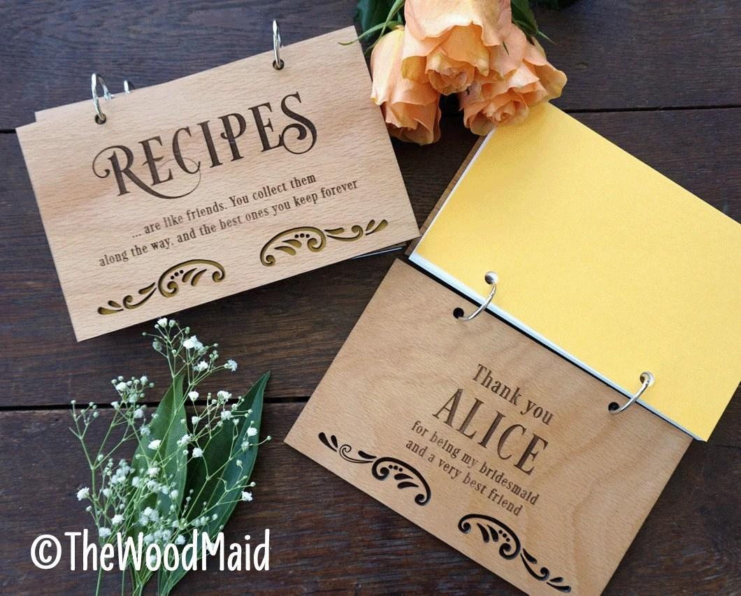 Items Similar To Bridesmaids Gift Recipe Books Set Wedding