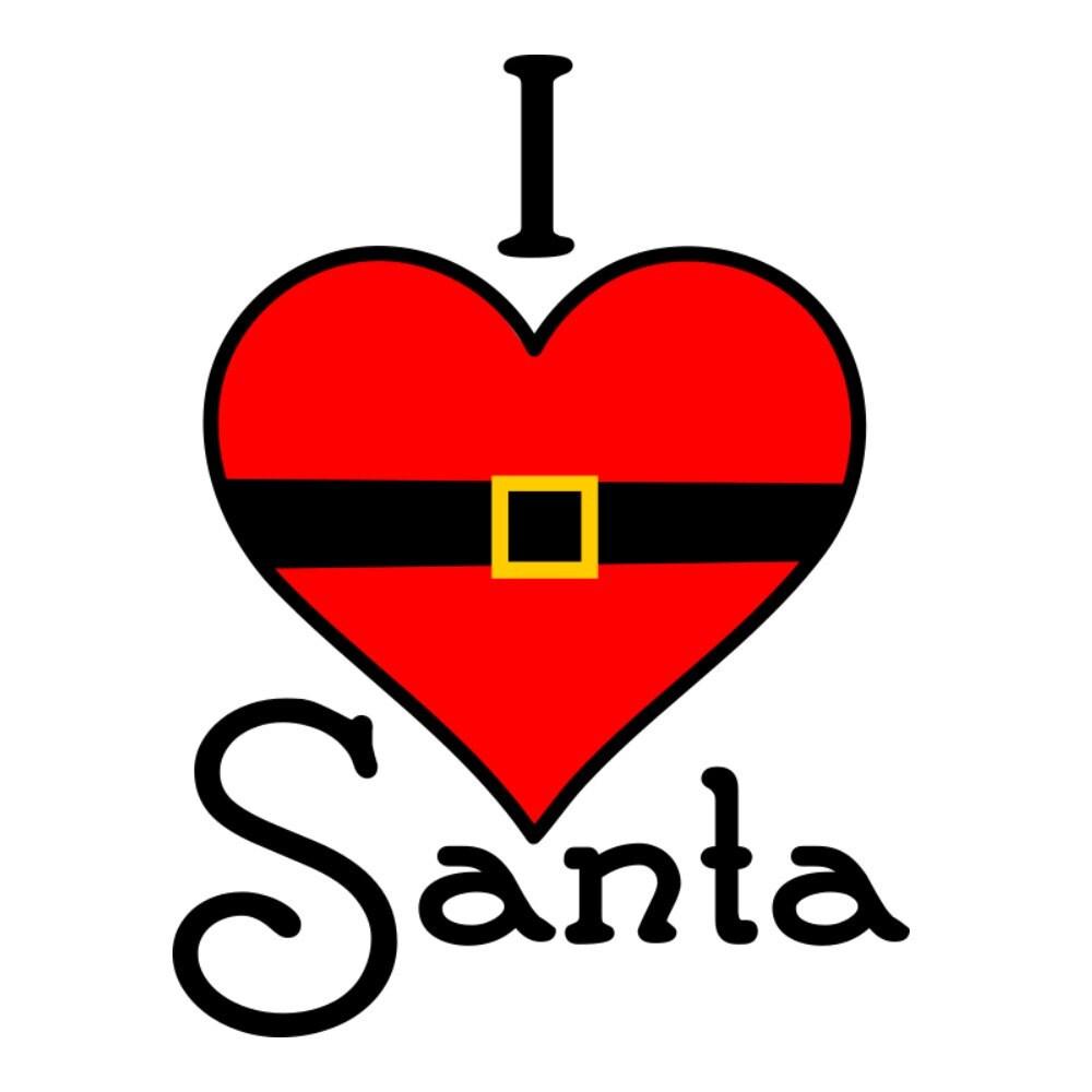 Download SVG I Love Santa DXF EPS Santa Christmas Shirt