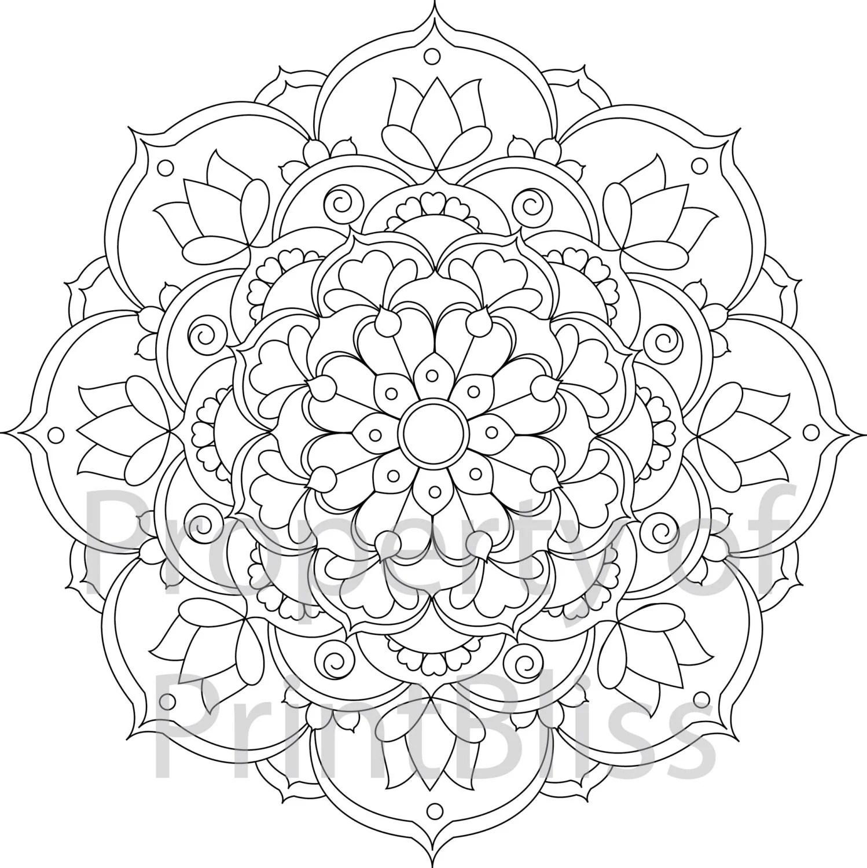 24. Flower Mandala printable coloring page. | coloring pages mandalas printable