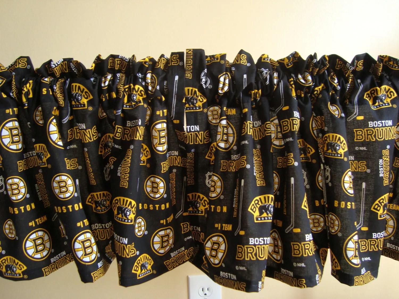Boston Bruins Black And Gold Hockey Handmade Valance 41