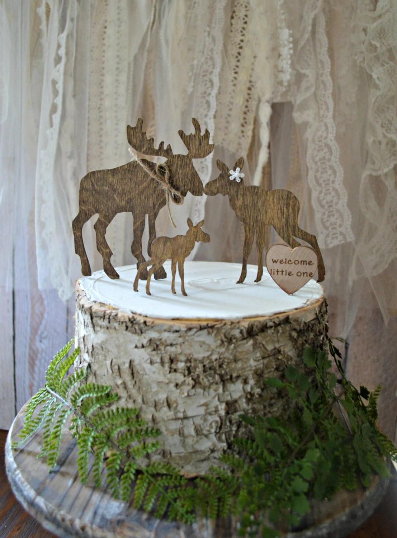 Moose Baby Shower Cake Topper Wedding Moose Love Bride Groom
