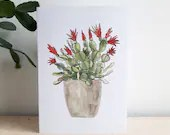 Easter Cactus card. Plant...