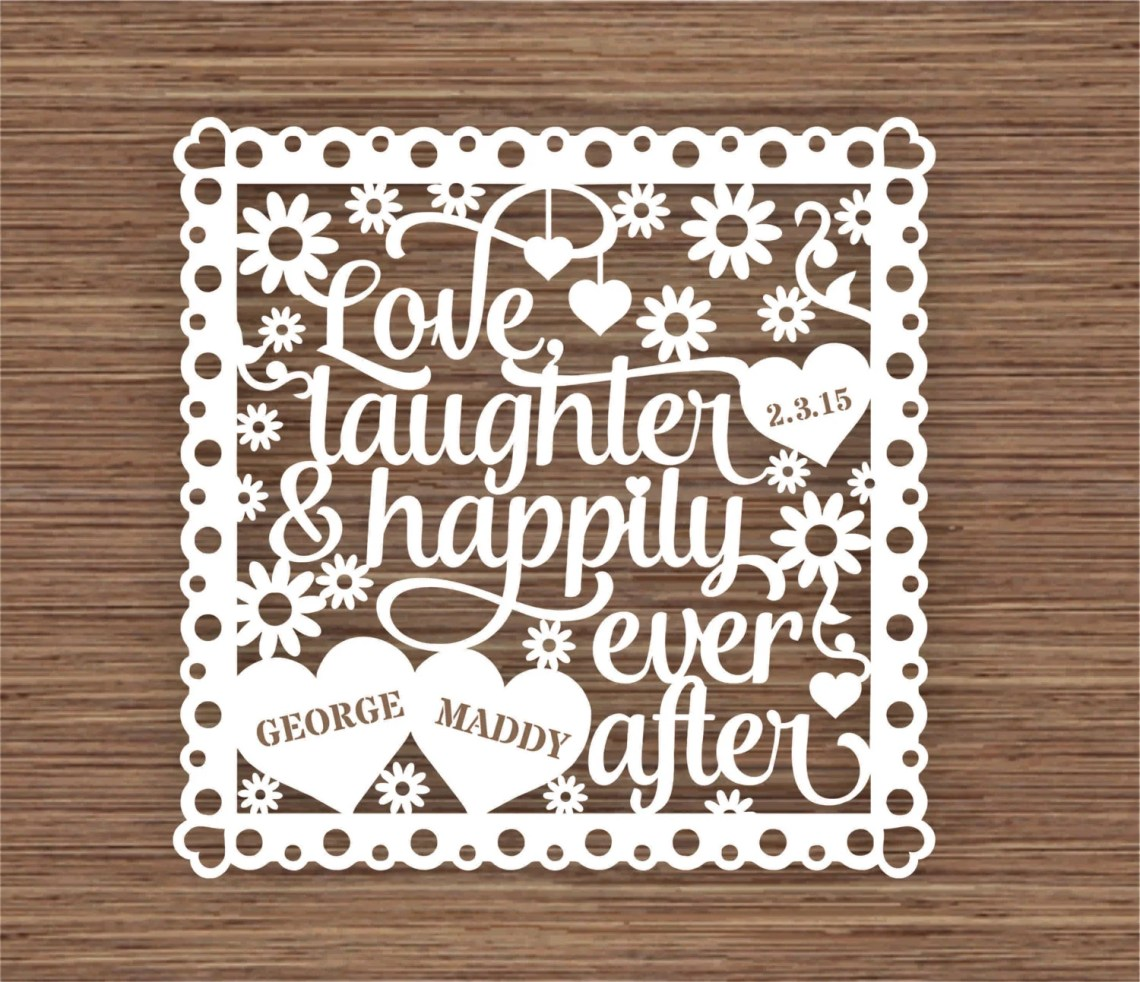 Download Love Laughter and Happily Ever After PDF SVG Commercial Use