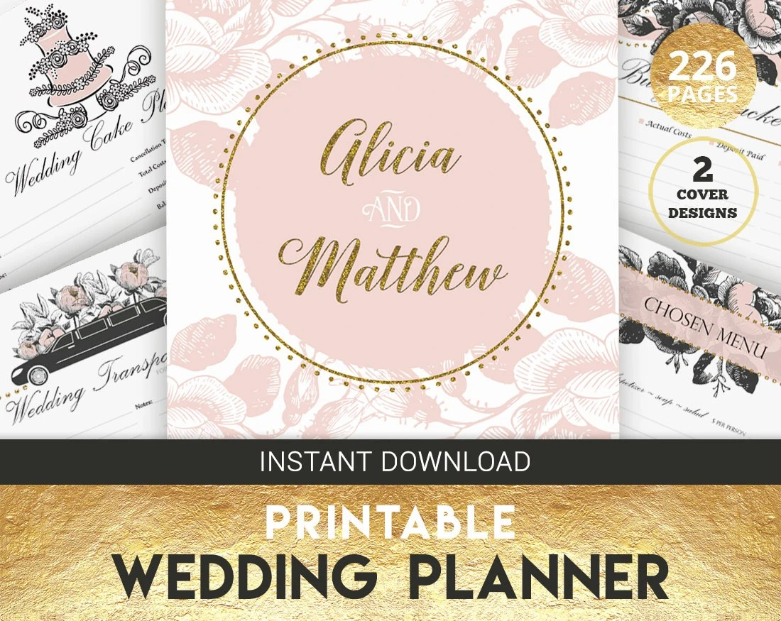 Wedding Planner Organizer Printable Wedding Planner By