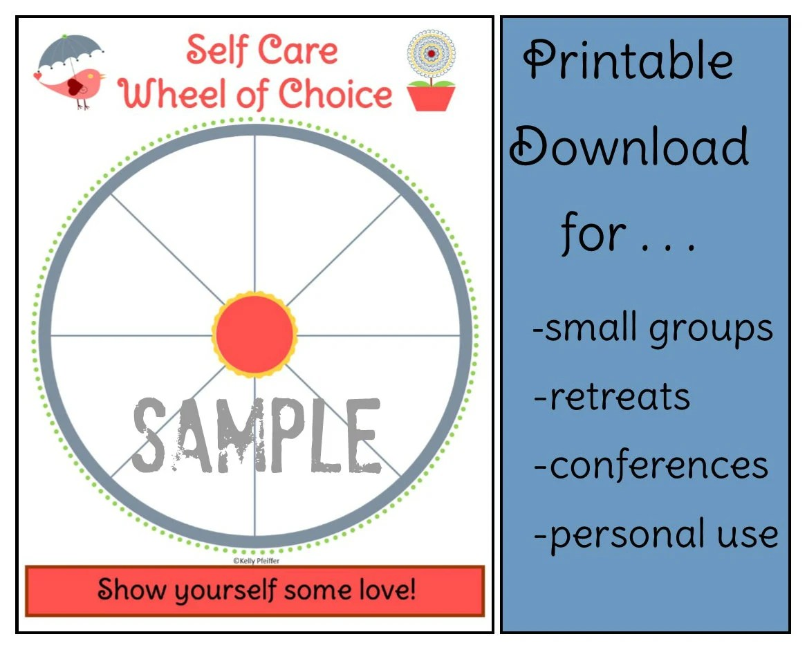Self Care Wheel Of Choice Bird And Flower