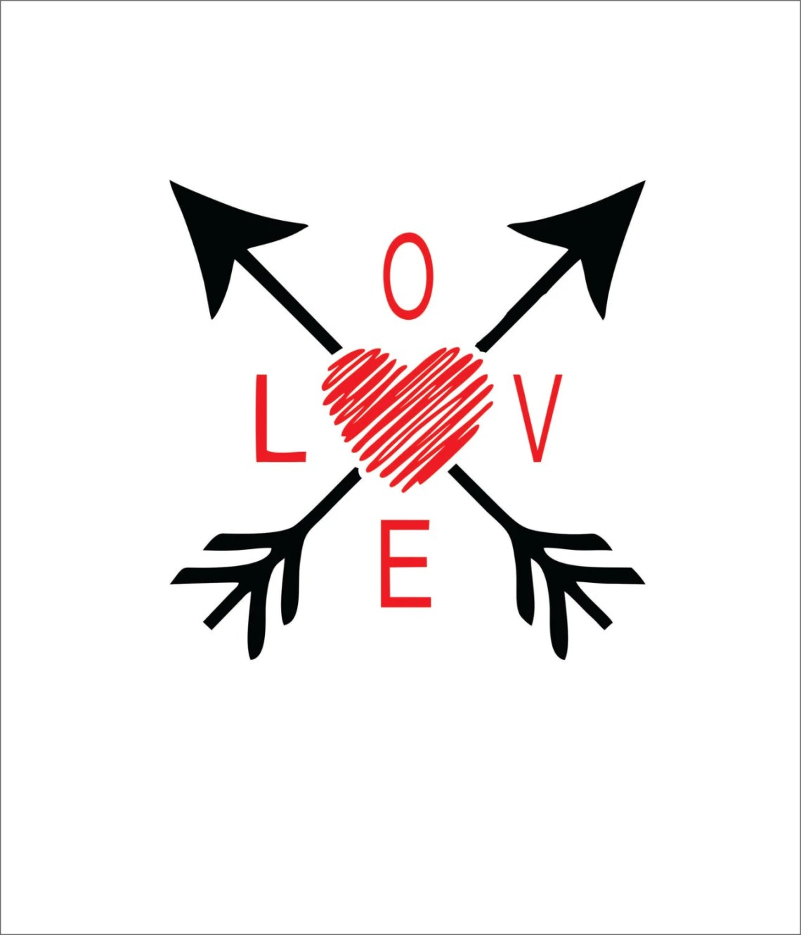 Download Valentine's Day Love arrows scribble heart SVG EPS DXF