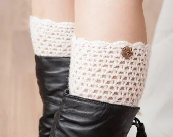 Items Similar To Sale Crochet Leg Warmers Boot Cuffs
