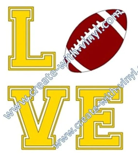 Download Football LOVE SVG file Cameo Cricut Embroidery svg files