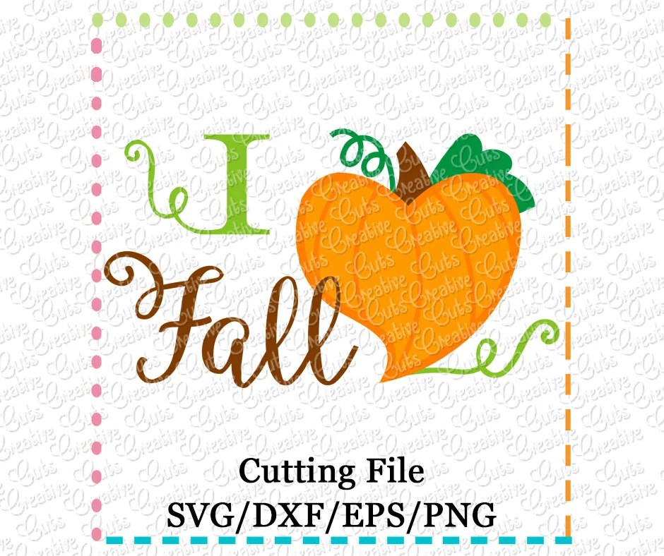 Download EXCLUSIVE SVG eps DXF I love fall svg I heart fall svg heart