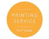 5x7 Card Printing with En...