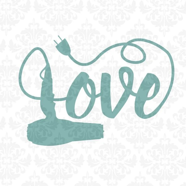 Download Hairdryer Hair Stylist Love SVG STUDIO Ai EPS by ...