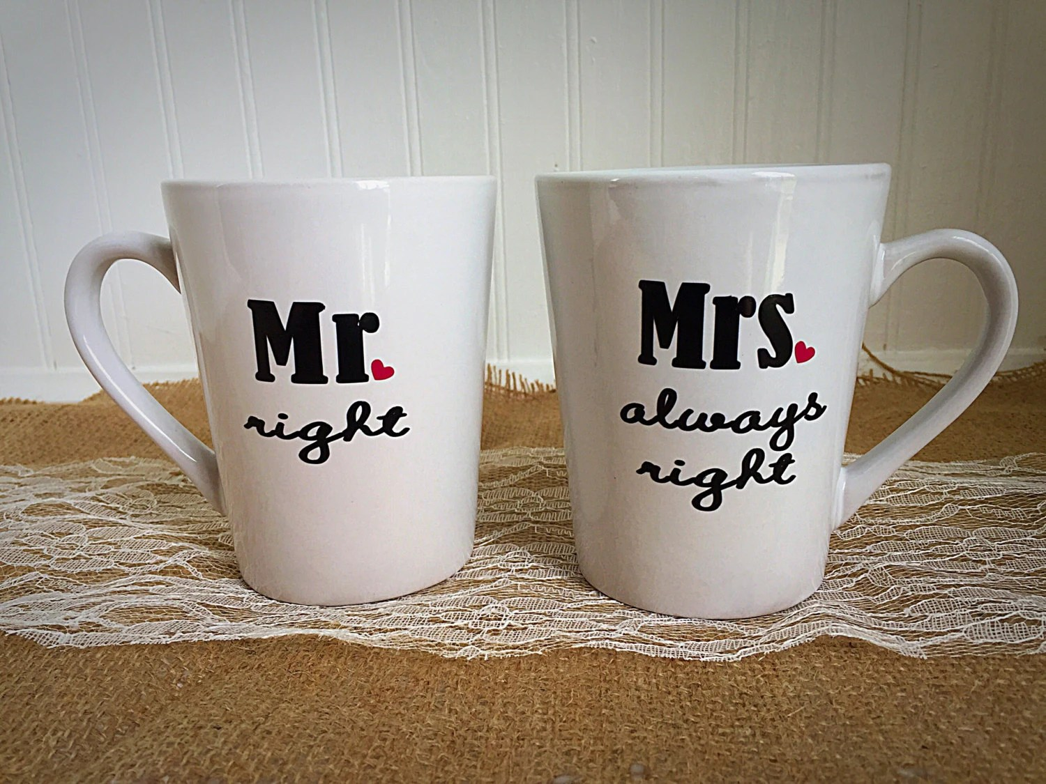 Mr And Mrs Mugs Gifts For Couple Bridal Shower Wedding Gift