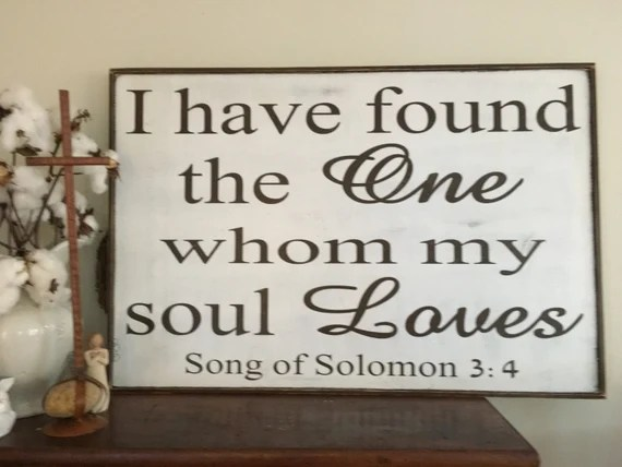 Download I have found the one whom my soul loves sign
