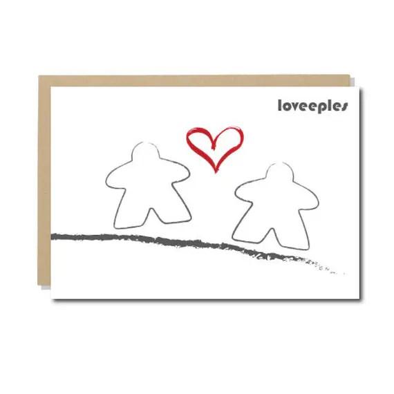 Meeple Valentine Card