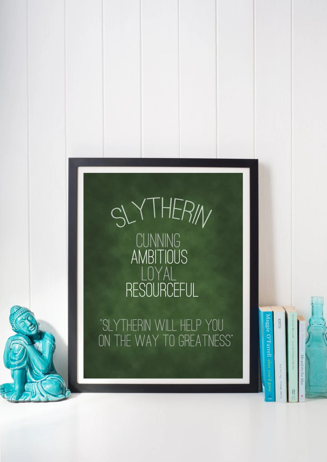 Harry Potter Slytherin Hogwarts House Pride Trait Motto Print