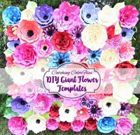 Giant Paper Flower Templates- DIY Paper Flowers- Large Flower Patterns & Tutorials- Paper Flower Wall- Flower Backdrop- Wedding backdrop