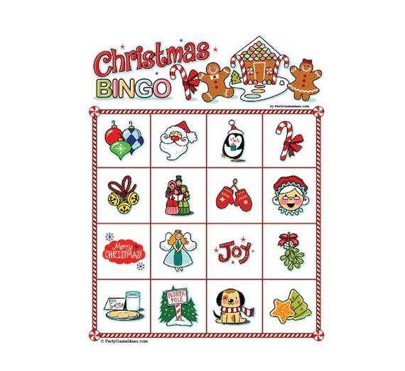 Christmas Bingo 4x4 25 Card Pack