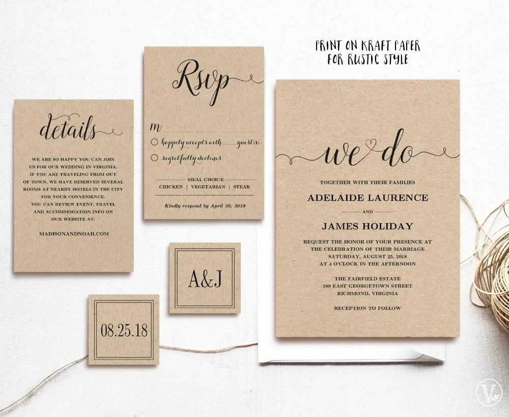 Rustic Wedding Invitations Philippines