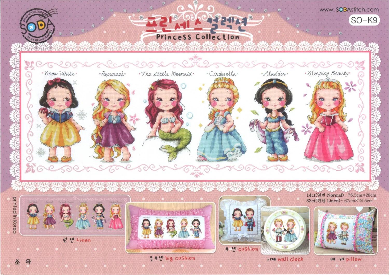 Modern Cross Stitch Pattern Kit Fairy Tales Princess
