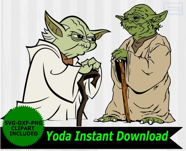 Yoda svg Star Wars SVG Yoda Clip Art Starwars SVG by ...