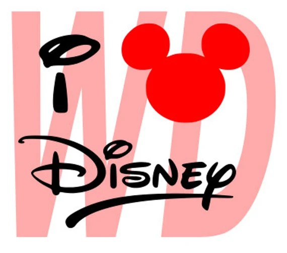 Download I love disney SVG DXF Cut Files Disney SVG by Walkerdesigns6