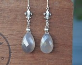 Grey Chalcedony Briolette...