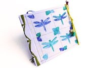 Guestbook with dragonflies inspired by nature