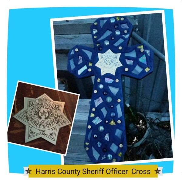 Harris County Sheriff Office Mosaic Cross/Sheriff by ...