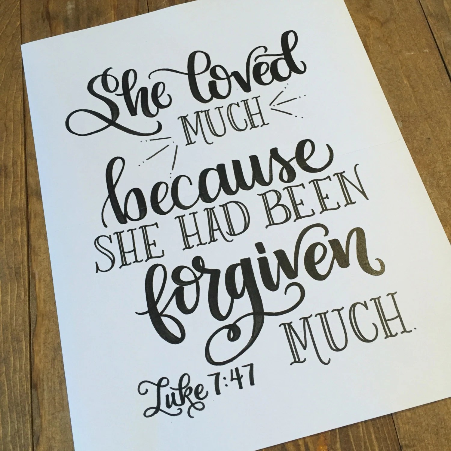Hand Lettered Print Bible Verse Scripture By Handletteredtruth