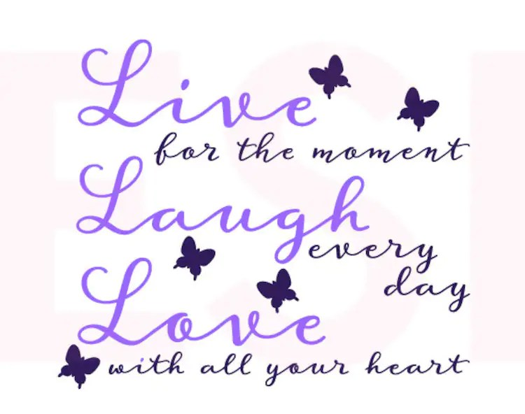 Download Live Laugh Love Quote svg SVG DXF EPS Vinyl by ...