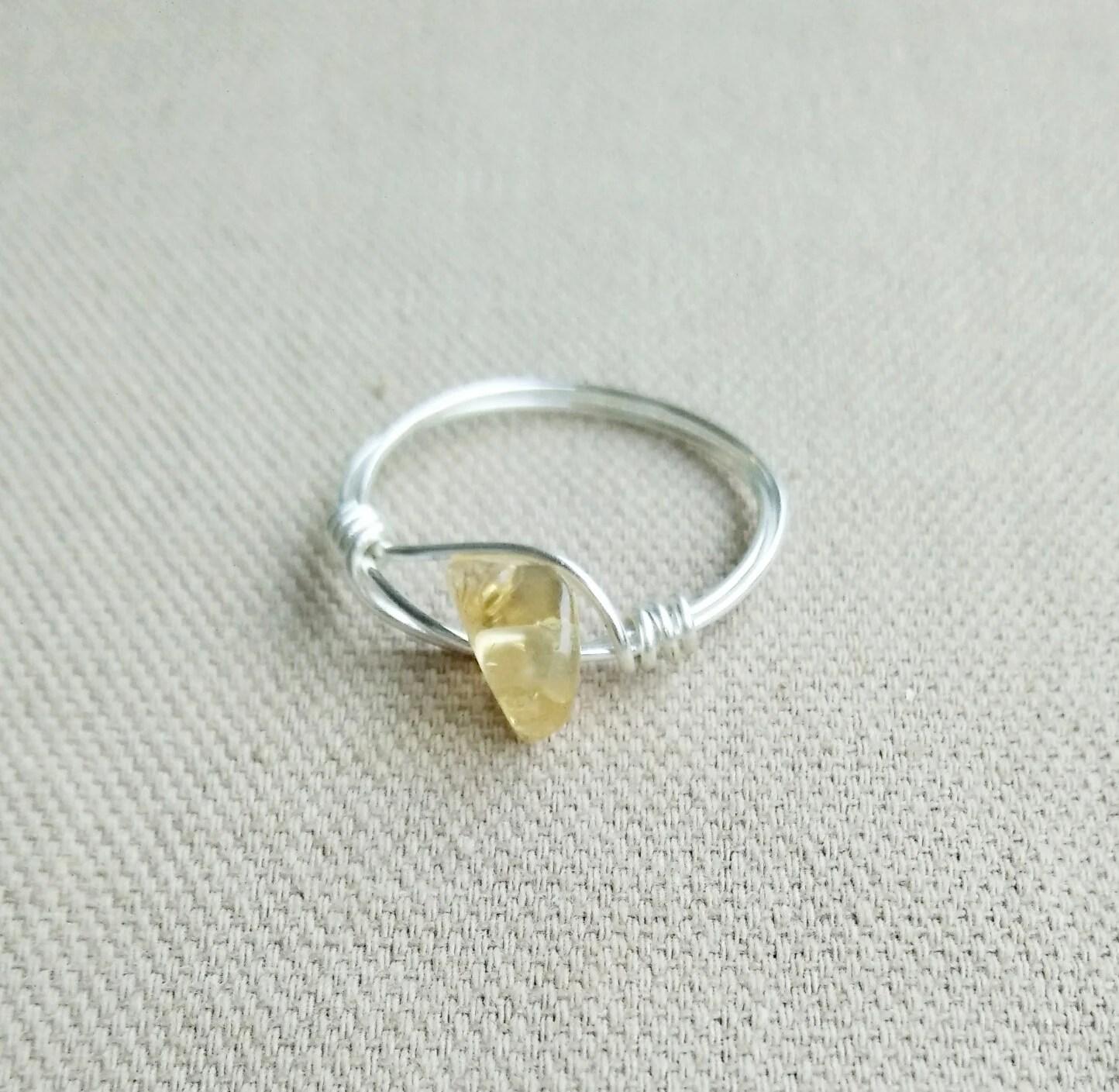 Citrine Silver Ring Gemstone Ring Citrine Jewelry Gemstone