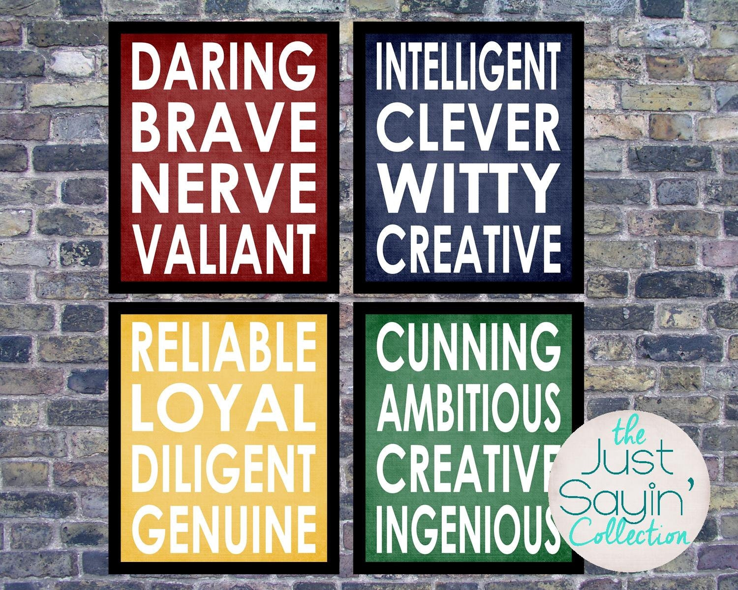 Harry Potter Posters Hogwarts House Typography Traits Of