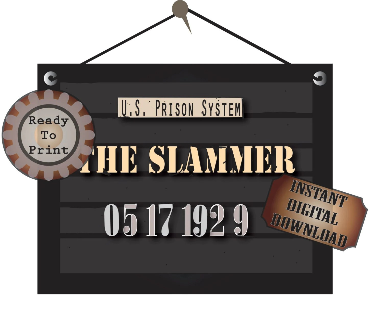 Police Line Up Sign Printable The Slammer S Mug Shot 2