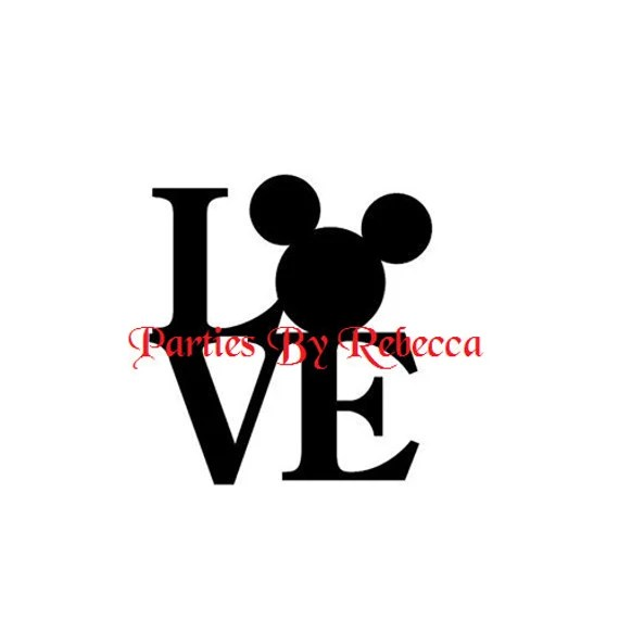 Download Love Disney SVG Digital File