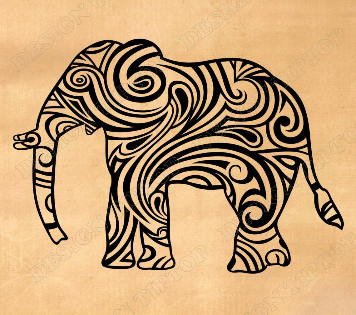 Download Elephant svg Silhouette Studio files Cricut Elephant